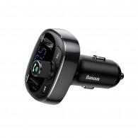 """Automobilinis FM moduliatorius 12-24V su """"Bluetooth"""" funkcija 1.56"""" LED ekranas, juodas"""