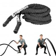 Jėgos-kovos virvė su nailonine apsauga inSPORTline Waverope 15m 38mm 13kg