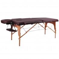 Mobilus medinis masažo stalas 2 dalių inSPORTline Taisage - Brown
