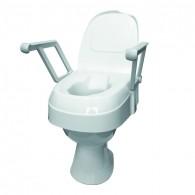 Reguliuojamo aukščio paaukštinimas tualeto sėdynei su dangčiu