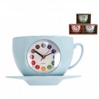Laikrodis plast. sieninis 28cm COFFEE