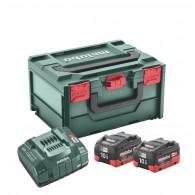 18V akumuliatorių rinkinys 2x10Ah LiHD, kroviklis MetaBOX215, Metabo