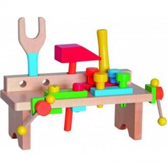 Medinis nešiojamas darbo stalas vaikams 3+