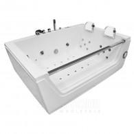 Masažinė vonia AMO-0056W White dvivietė 176x121 cm.