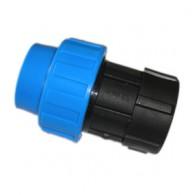 Jungtis PE 50x1 1/2 vidinis sr. mėlyna