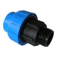 Jungtis PE 50x1 1/4 išorinis sr. mėlyna
