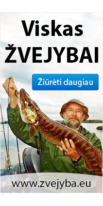 Šilti rūbai žvejybai